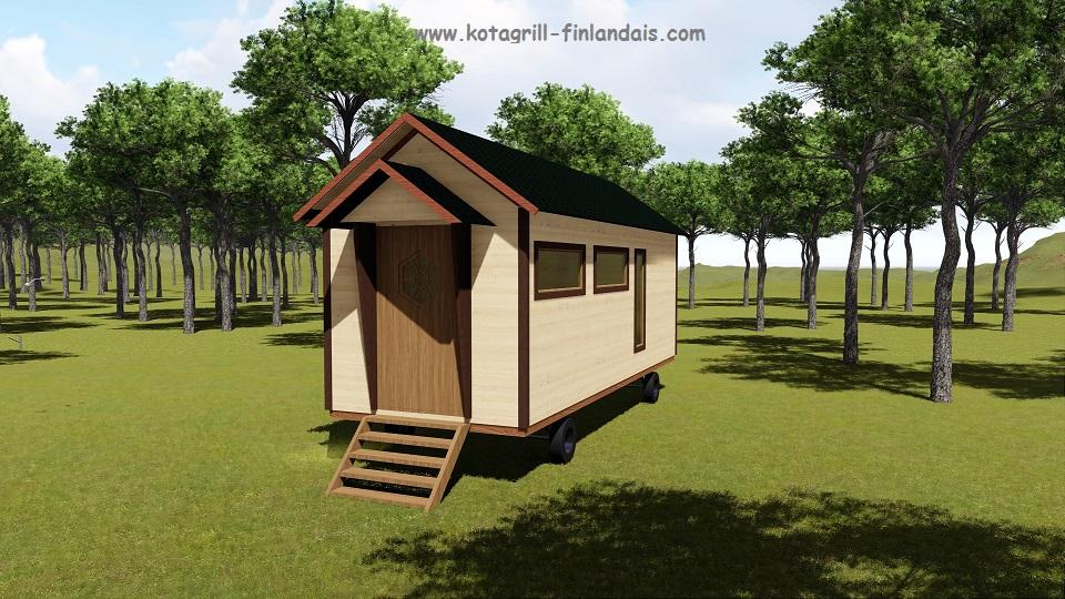 Hll insolite une roulotte dans votre jardin ou camping kota original inso - Camping dans son jardin ...